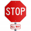 Stop All-Way — Stock Vector