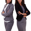 African american business women's with folded arms — Stockfoto