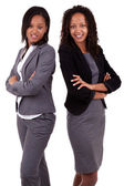 African american business women's with folded arms — Stock Photo