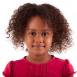 Cute little African Asian girl isolated on white background — Stock Photo
