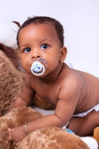 Adorable little african american baby girl — Stock Photo