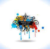 Colour grunge poster — Stock Vector