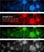 Abstract glowing banners — Vector de stock