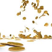 Cae oro chinos — Foto de Stock
