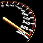 Visualization of speedometer on high-rate — Stock Photo