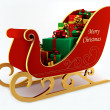 Christmas sleigh with presents — Stock Photo
