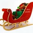 Christmas sleigh with presents — Stockfoto
