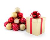 トウヒの形でのギフト、クリスマスの装飾 — ストック写真