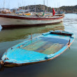 Stock Photo: Blue boat in sea