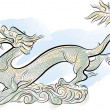 Old Chinese Traditional Dragon — Vector de stock #7668376
