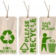 Stock Vector: Grunge tags for recycling