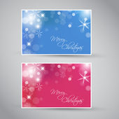 Set of vector christmas - New Year banners 2012 (blue and purple) — Stock Vector