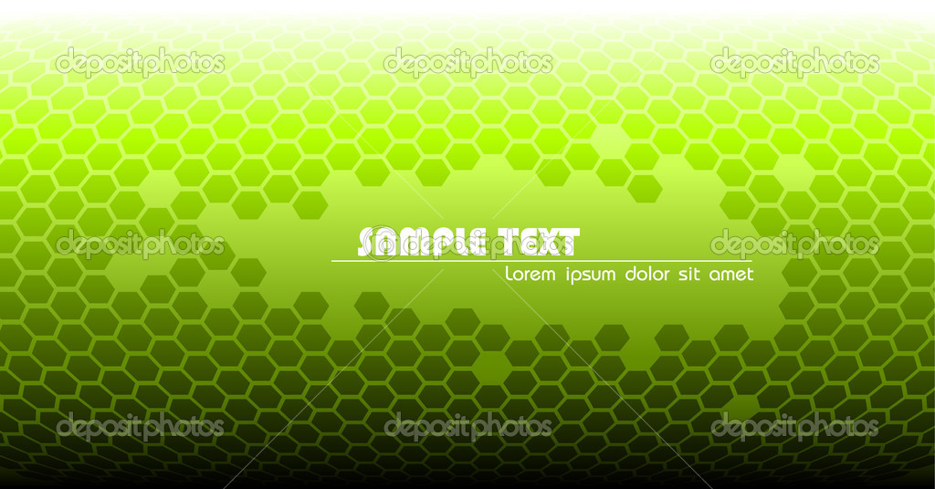 Abstract green technical background made from hexagons — Stock Vector #6766415