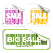 Set of fresh sale labels — Stock Vector