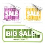 Set of fresh sale labels — Stock Vector