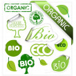 Set of bio, eco, organic elements — Vector de stock