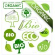 Set of bio, eco, organic elements — Stockvektor