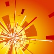 Orange background with explosion — Imagen vectorial