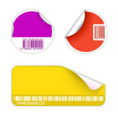 Set of fresh labels with bar codes — Stock Vector