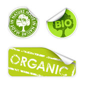 Set of labels with stamps for organic — Stock Vector