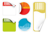 Set of fresh labels with bar codes(vivid colors) — Stock Vector