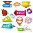 Vector Collection of colorful sale elements — Stock Vector #6858270
