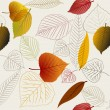 Autumn vector leafs texture — Stock Vector