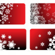 Red christmas cards — Stock Vector