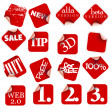 Labels badges and stickers — Stock Vector