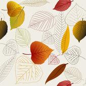 Herbst vektor leafs textur — Stockvektor