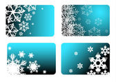 Blue christmas cards — Stock Vector