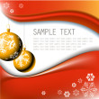 Golden Christmas bulbs with snowflakes - Imagen vectorial