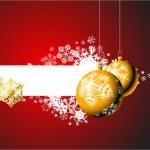 Christmas bulbs with snowflakes — Stock Vector #6862632