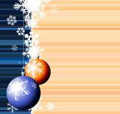 Christmas bulbs with snowflakes — Stock Vector
