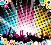 At the concert — Stock Vector