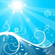 Cold Christmas background — Stock Vector