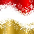 Christmas background in red and golden color — Imagen vectorial