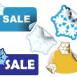 Christmas winter sale labels - Imagen vectorial