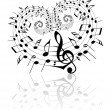 Stock Vector: Valentine music theme
