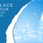 Winter landscape card — Stock Vector
