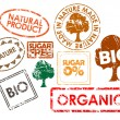 Set of stamps for organic food — Stock Vector