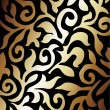 Royalty-Free Stock Vector Image: Black and golden background
