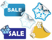 Christmas winter sale labels — Stock Vector