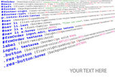 Stylesheet source code listing — Stock Vector