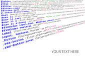 Stylesheet source code listing — Stock Vector