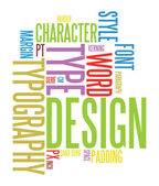 Typography background — Stock Vector