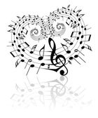 Valentine music theme — Stock Vector