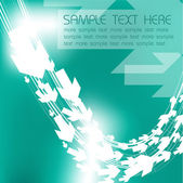 Abstract teal background — Stock Vector