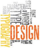 Grunge typography background — Stock Vector