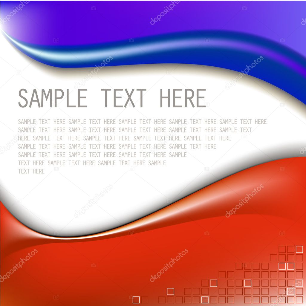 Abstract blue and red background with place for your text — Stock Vector #6876678